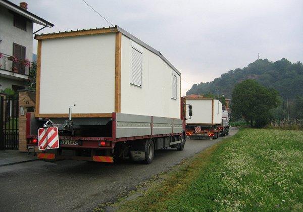 Case mobili for Casetta prefabbricata su ruote