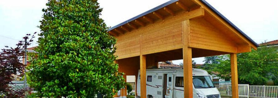 Clemente prefabbricati in legno case mobili bungalow for Case con annesso garage per camper